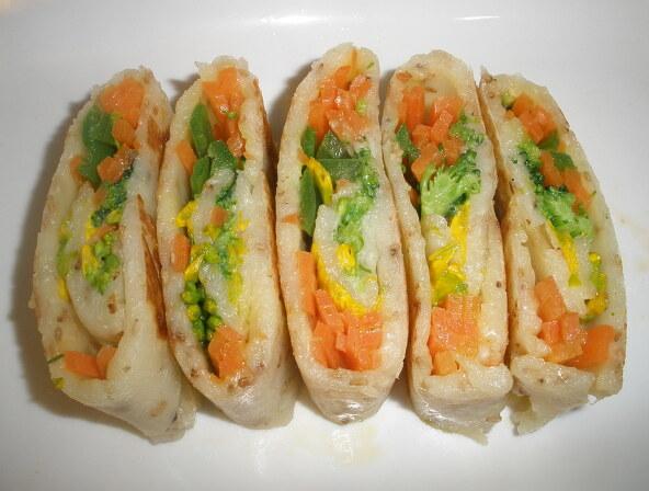 변비예방. 브로콜리.수제비 .유채부침전 . 섬김밥상 .