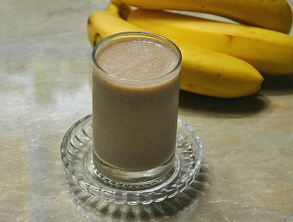 더운날 열을 내려주는 영양간식, 바나나 미숫가루