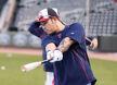 [사진]DH 5번타자 출전 박병호,'오늘도 홈런 날려볼게요'