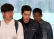 [포토엔]김우빈 '폭우 속 아웃도어 공항패션'