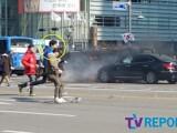 강동원 '골든슬럼버' 광화문 대규모 촬영中
