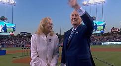 '다저스의 목소리' 빈 스컬리 은퇴 행사 - 축전