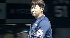 '2G 연속 홈런' 나성범 초구 노려 만든 스리런포 / 1회초
