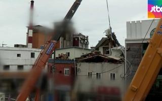 진주서 3층 건물 붕괴, 3명 매몰..아직 생사 확인 안돼