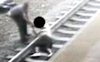 [영상] '간발의 차' 생명 구한 경찰관 '진정한 영웅'