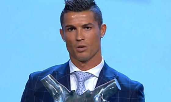 호날두, 15-16 UEFA 최우수선수 선정 / 남자 부문 시상식