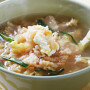 뽀얗고 구수한 누룽지 황태국밥