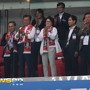 [포토엔HD]문재인 대통령 '패배한 한국팀 향해 박수'
