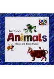 Eric Carle's Animals: Book and Block Puzzle (Paperback)