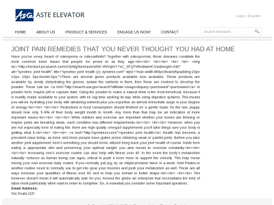 http://asteelevator.com.sg/joint-pain-remedies-you-never-thought-you-had-home