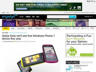 http://www.engadget.com/2011/02/13/nokia-hints-well-see-first-windows-phone-7-device-this-year/