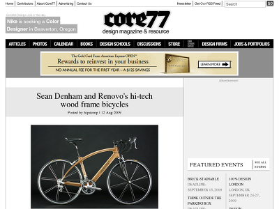 http://www.core77.com/blog/object_culture/sean_denham_and_renovos_hitech_wood_frame_bicycles_14301.asp
