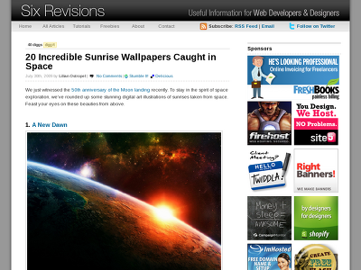 http://sixrevisions.com/design-showcase-inspiration/20-incredible-sunrise-wallpapers-caught-in-space/