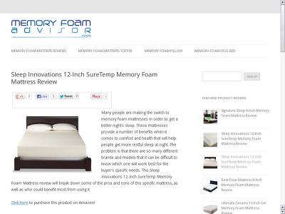 http://www.Memoryfoamadvisor.com/sleep-innovations-12-inch-suretemp-memory-foam-mattress-review/