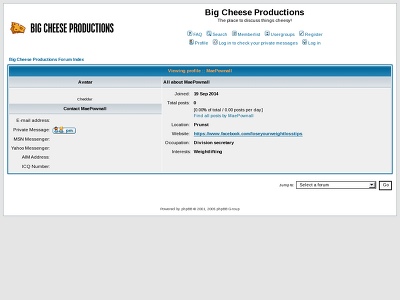 http://www.bigcheeseproductions.com/wforum/profile.php?mode=viewprofile&u=18006