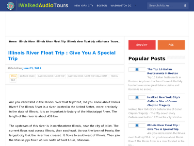 http://www.iwalkedaudiotours.com/2017/06/illinois-river-float-trip-give-you-special-trip.html