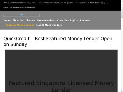 http://www.moneylenderreview.com.sg/best-featured-singapore-licensed-money-lender-quick-credit-moneylender/