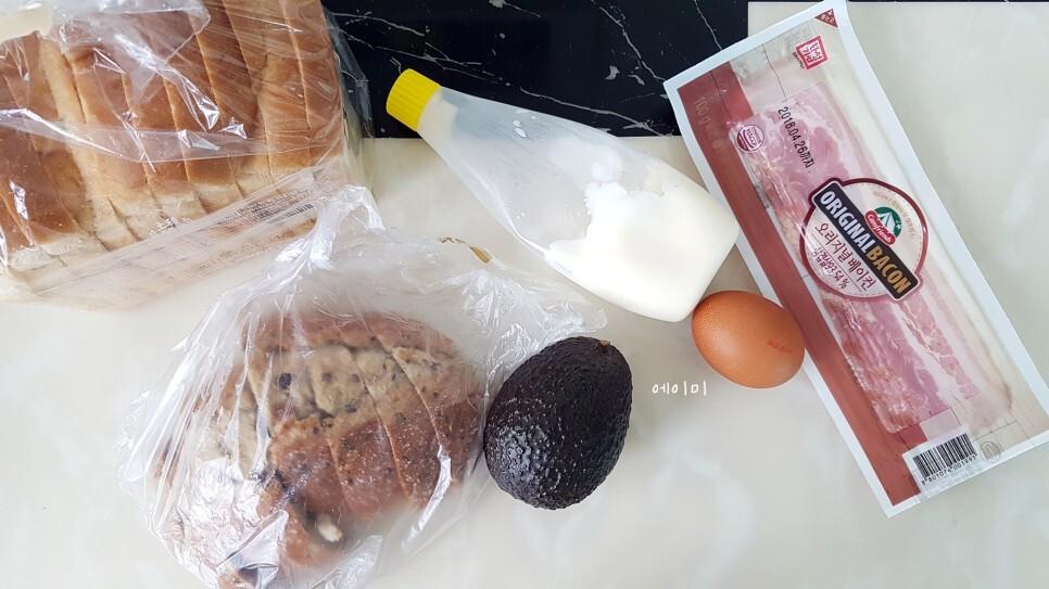 #아보카도베이컨수란 오픈 토스트_맛있는 건강식