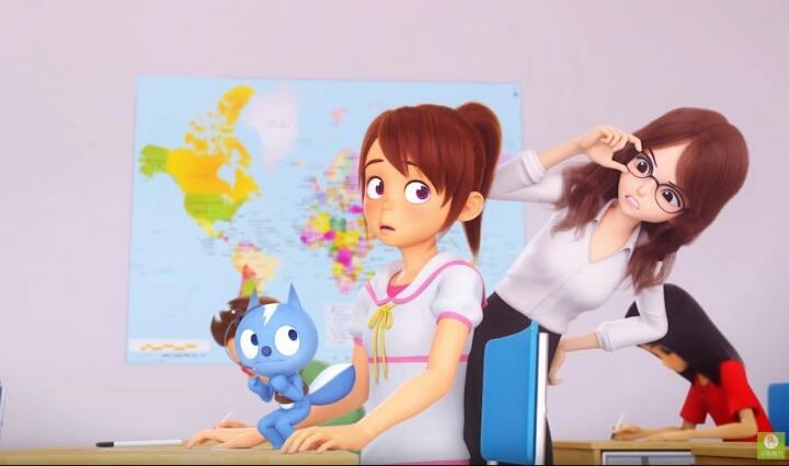 국산 아동 애니메이션에 나오는 여교사