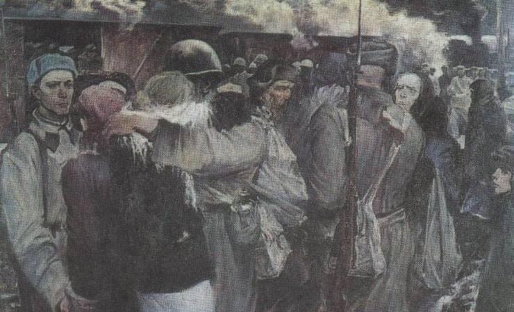 전쟁터로 나가는 군인들