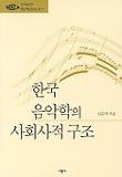 한국음악학의 사회사적구조 (예연총서7)