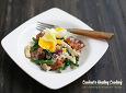 베샤멜 소스를 곁들인 베이비 브로콜리 버섯 샐러드