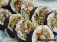 명절 남은 음식 활용, 묵은지 잡채 김밥