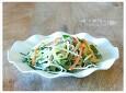 남은 김밥 재료로 만든...단무지 맛살냉채