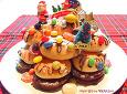 먹다남은 빵의 기막힌변신! 환호성 폭발한 크리스마스트리케이크