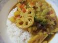 닭가슴살 연근 카레밥
