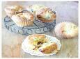 핫케이크 가루로 만든....산딸기 컵케익