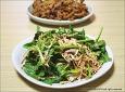 고기 먹을때 곁들어먹으면 좋은 양배추 시금치(섬초)무침
