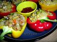 알록달록 맛도 좋고 영양도 만점....파프리카 해물볶음밥 만들기