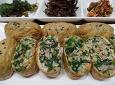 간단하고 맛있는 봄나물 유부밥~