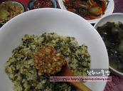 참취나물밥