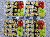 꽃구경갈때 다이어트용 곤약 김밥