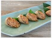 간단 도시락 만들기 ..... 무말랭이 햄 유부밥.