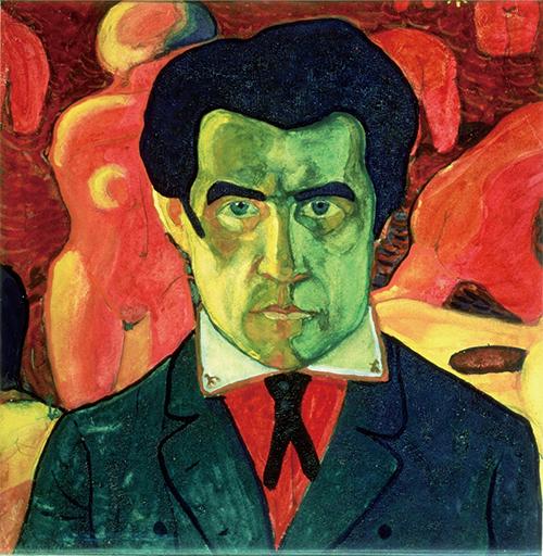 카지미르 말레비치 / 자화상(1908 또는 1910-1911) / 종이에 과슈물감 / 27×26.8cm