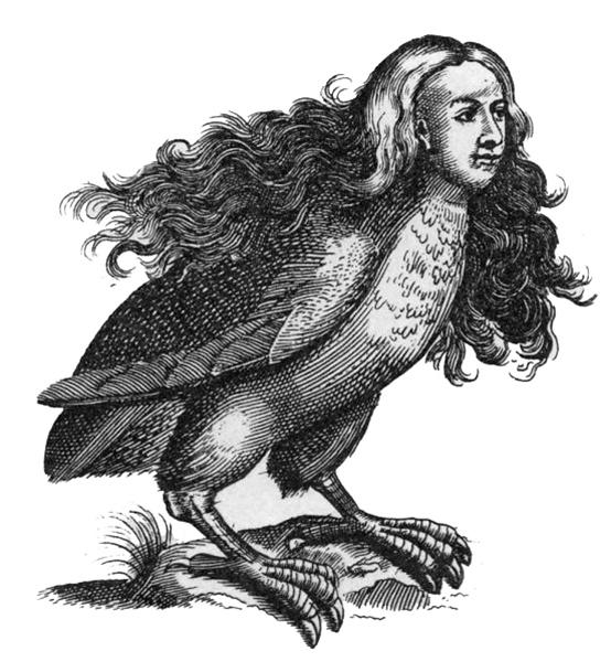 하르피이아이, Ulisse Aldrovandi의 『괴물의 역사』 속 삽화, 1642