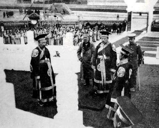 위안스카이의 황제 즉위식