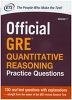 Official GRE Quantitative Reasoning Practice Questions Volume. 1(Paperback)