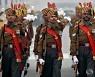 공화국의 날 행사 준비 중인 인도 병사들