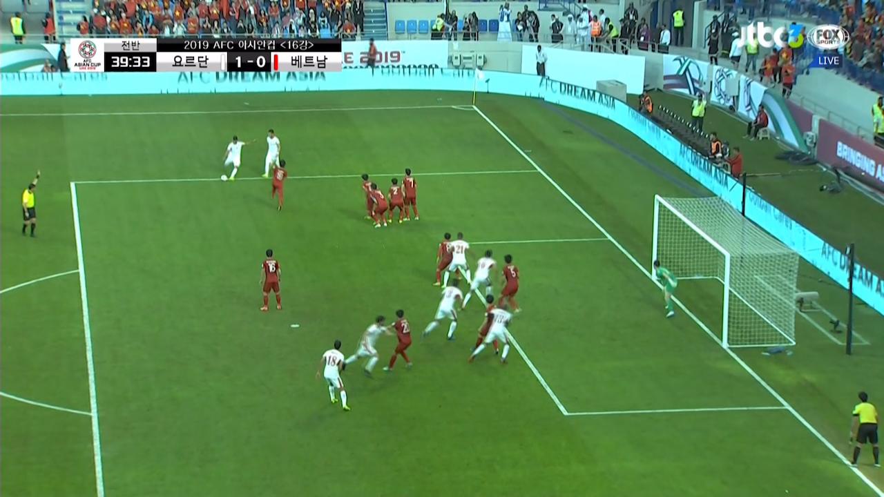'간접 프리킥' 독일 토니 크로스가 생각나는 압델라만의 선제골 / 전반 39분 #2019AFC아시안컵