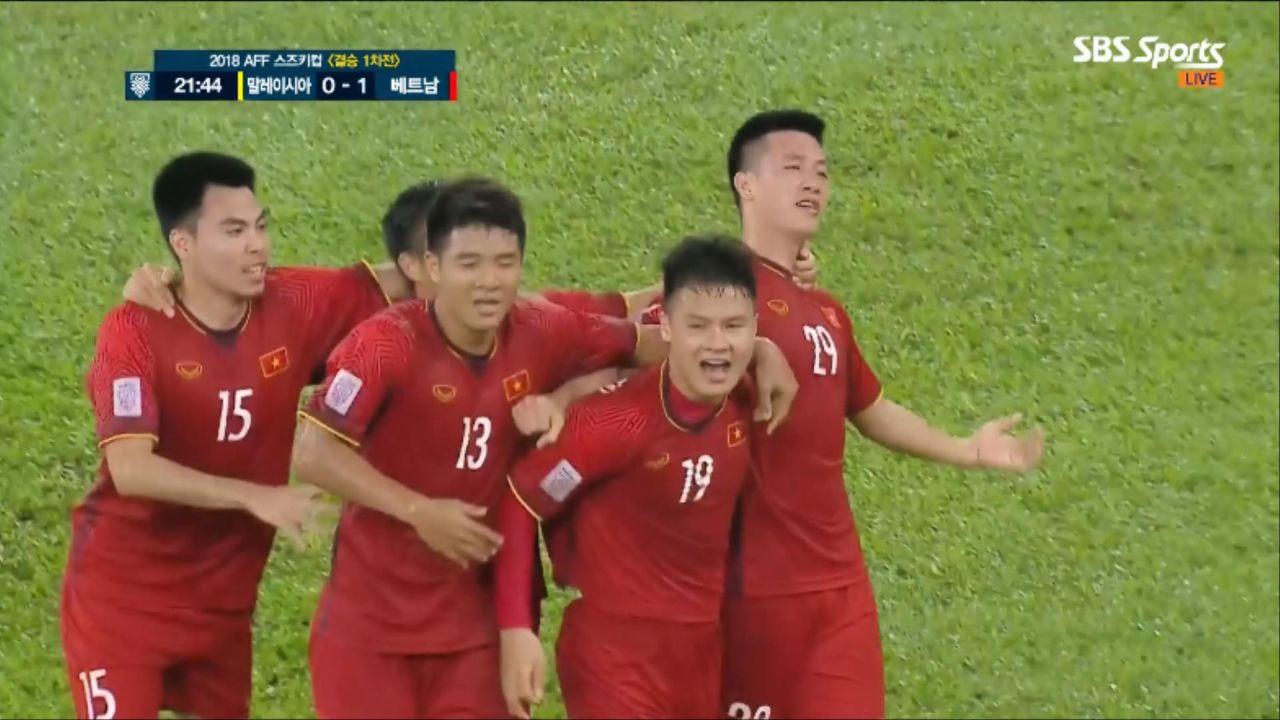 [말레이시아 vs 베트남] 깜짝발탁, 응우옌후이흥의 선제골! #2018AFF스즈키컵