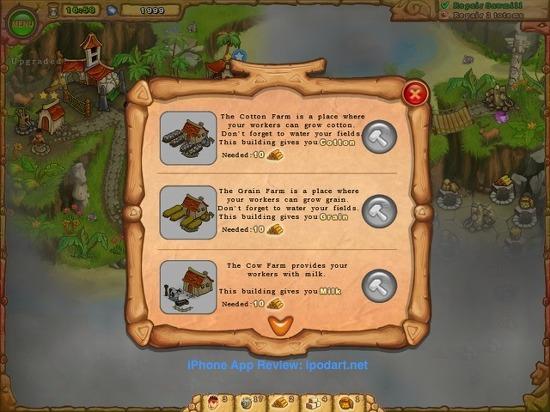 Island Tribe 아이폰 아이패드 타임매니지먼트 게임