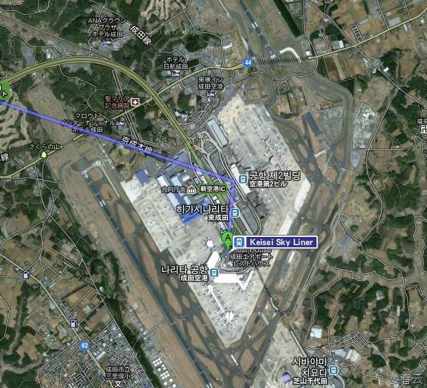 나리타 공항에서 호텔 아시아 센터 오브 저팬 (Hotel Asia Center of Japan) 가는 방법 – 스카이 라이너 타고 긴자 선 타고 아오야마 핫초메에서 내리면 되