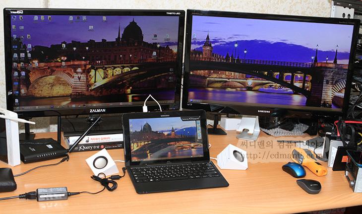 아티브 프로 S펜, ativ pro, It, samsung, 리뷰, 사용기, 삼성, 삼성 스마트PC, 성능, 소음, 아티브 스마트PC 프로, 아티브 프로, 아티브 프로 게임, 아티브 프로 발열, 아티브 프로 벤치마크, 아티브 프로 성능, 아티브 프로 소음, 아티브 프로 온도, 아티브PC, 제품, 태블릿PC, 후기,아티브 스마트PC 프로는 S펜 터치 두가지를 사용할 수 있습니다. 다른 태블릿 경우에는 손가락 터치만 지원하거나 또는 블루투스 방식의 감압식펜을 지원하기도 하죠. 물론 손가락 터치가 되는것은 일반 정전식 터치펜을 써도 됩니다. 이건 아티브 스마트PC 프로도 마찬가지 입니다. 차이가 있다면 S펜은 무전력으로 동작합니다. 때문에 얇고 가볍습니다. 덕분에 아티브 스마트PC 프로 뒷면에 꽂아놓고 함께 휴대할 수 있습니다. 이점이 가장 강점이죠.  특히 아티브 스마트PC 프로는 풀HD (1920x1080) 해상도를 가지고 있습니다. 덕분에 보통의 경우 메뉴와 설정이 모두 작은 크기의 화면때문에 상대적으로 작게 보입니다. 손가락 터치로는 작은 메뉴를 누르다보면 스트레스를 받게 되는데 이때 펜을 이용하면 좀 더 수월하게 작업을 할 수 있습니다. 이점이 강점인데요. 근데 이 S펜이라는게 갤럭시 노트를 써봤던 분들은 알테지만 상당히 필기를 섬세하게 할 수 있습니다. 물론 이것을 지원해주는 앱도 필요하겠죠. 재미있는것은 삼성이 스마트폰을 만들어서인지 앱을 미리 만들어서 올려놓았습니다. S노트를 활용할 수 있습니다. 이 외에 Fresh Paint 앱도 사용할 수 있습니다. 다양한 앱들에 대해서는 다음에 좀 더 자세히 설명하고 여기에서는 터치와 펜에 집중해서 설명을 해보죠.