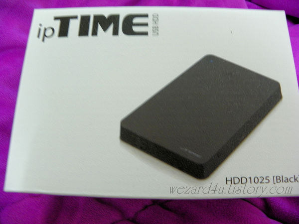 ipTIME HDD 1025외장하드 케이스 제품상자