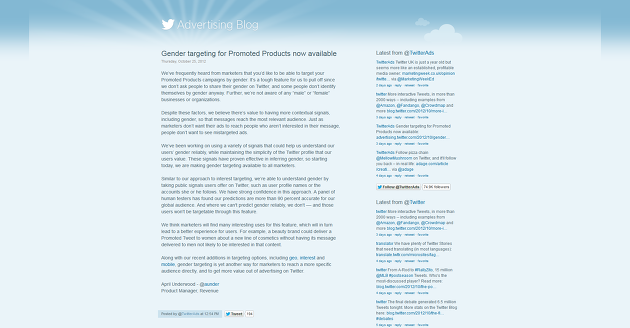 Gender targeting for Promoted Products now available