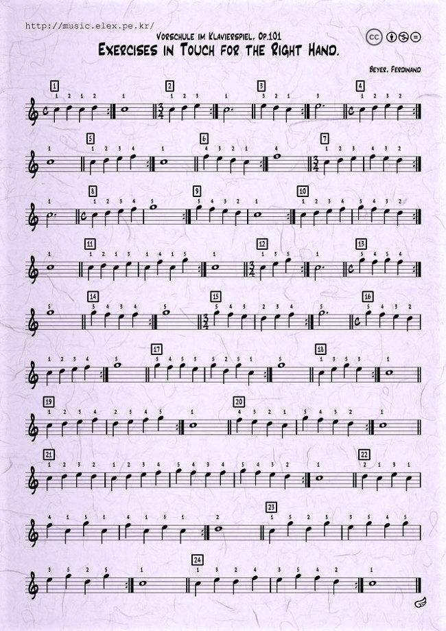 바이엘 : 피아노 오른손 연습